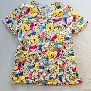 Disney Winnie the Pooh Scrub Top